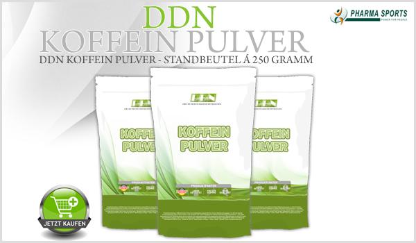 Neu im Sortiment bei Pharmasports - DDN Koffein Pulver