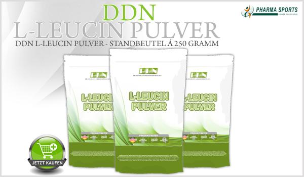 DDN L-Leucin Pulver im 250 Gramm Standbeutel neu bei Pharmasports