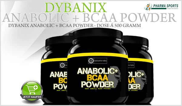 Dybanix Anabolic + BCAA Powder - reines BCAA Pulver in höchster Qualität