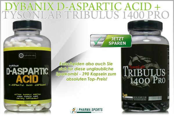 Dybanix D-Aspartic Acid + TysonLab Tribulus 1400 Pro im Sparset