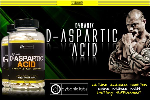 Dybanix D-Aspartic Acid für mehr Muskelmasse und Kraft