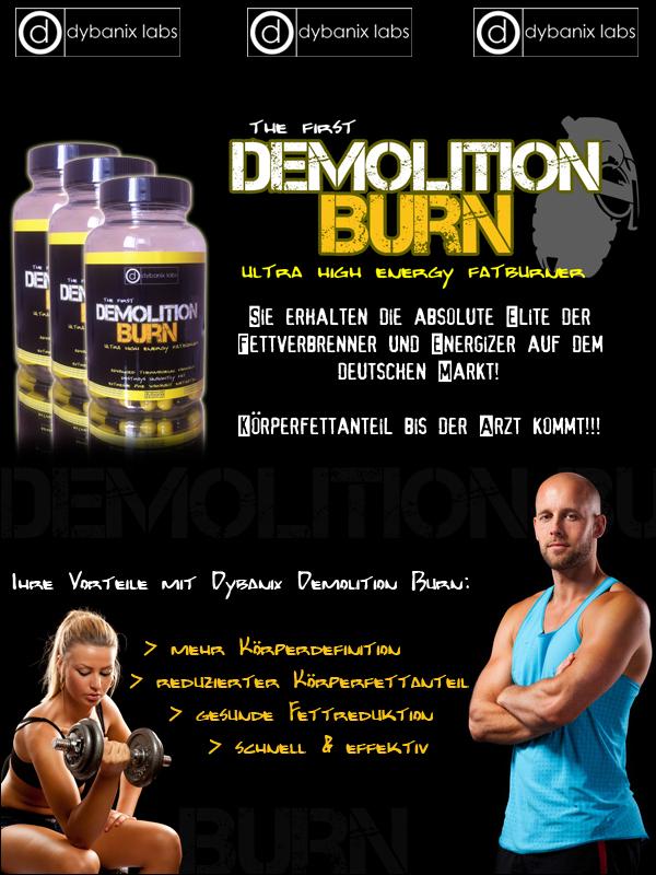 Dybanix Demolition Burn zur besten Fettreduktion