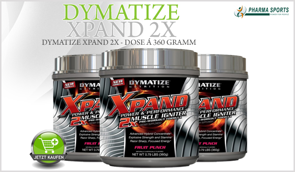 Dymatize Xpand 2X - Pre-Workout Supplement der Oberklasse bei Pharmasports
