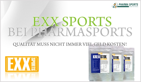 EXX Sports bei Pharmasports - die Auswahl an hochwertiger Sportnahrung wächst weiter!