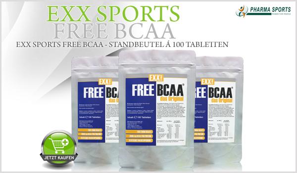 EXX Sports Free BCAA - hochwertige Free-Form-BCAA's zum Top-Preis!
