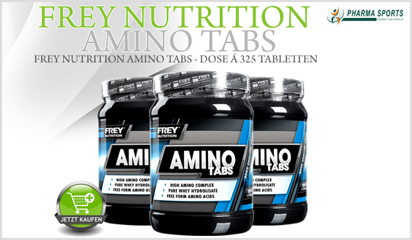Frey Nutrition Amino Tabs ab sofort auch bei Pharmasports!