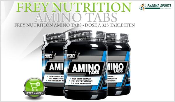 Frey Nutrition Amino Tabs ab sofort auch bei Pharmasports!