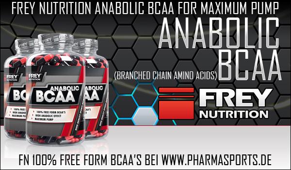 Frey Nutrition Anabolic BCAA zum gezielten Muskelaufbau