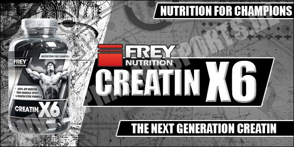 Frey Nutrition Creatin X6 für mehr Masse und Kraft