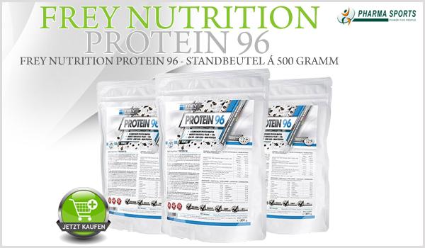 Neu bei Pharmasports: Frey Nutrition Protein 96 in 2,3 Kilogramm oder 500 Gramm