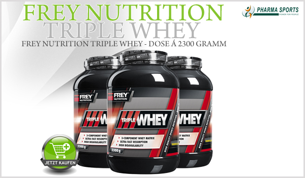 Frey Nutrition Triple Whey – Whey Matrix System bei Pharmasports