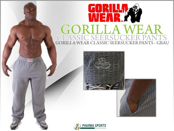 Gorilla Wear Classic Seersucker Pants neu bei Pharmasports!