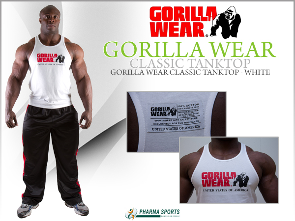 Gorilla Wear Classic Tank Top in Weiß bei Pharmasports
