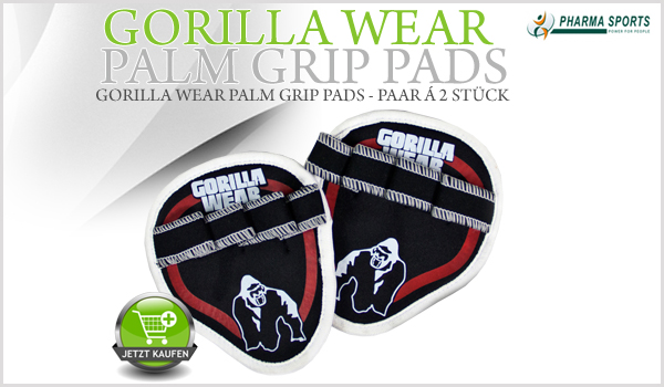 Gorilla Wear Palm Grip Pads - Rot