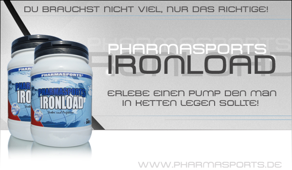 Pharmasports Ironload für effektives Muskelaufbau-Training