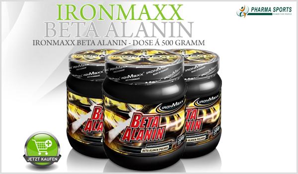 IronMaxx Beta Alanin - Dose á 500 Gramm