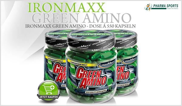 Ab sofort neu bei Pharmasports: IronMaxx Green Amino