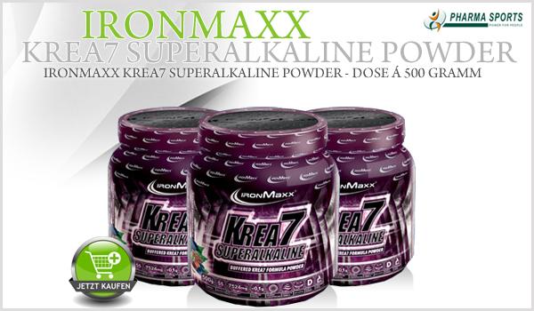 IronMaxx Krea7 Superalkaline Powder neu bei Pharmasports!