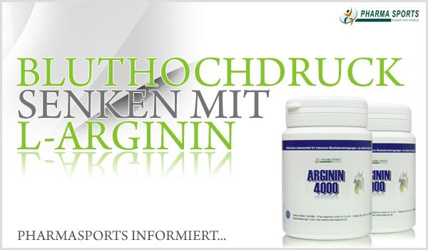 Bluthochdruck senken mit der Aminosäure L-Arginin
