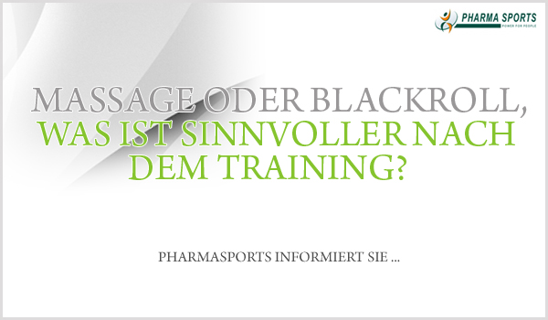 Massage oder Blackroll nach dem Training?