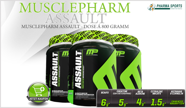 MusclePharm Assault das nächste Supplement von MusclePharm bei Pharmasports!