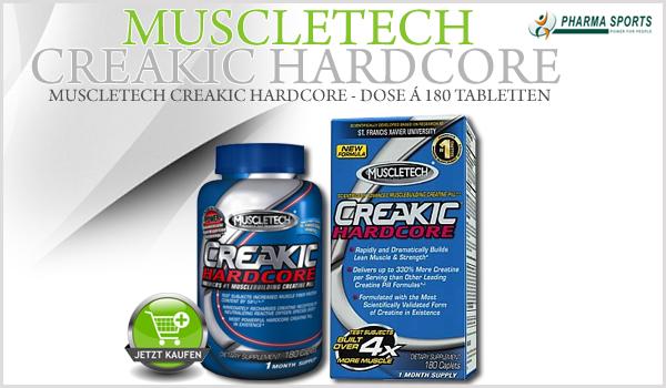 Neues Creatin bei Pharmasports - MuscleTech Creakic Hardcore