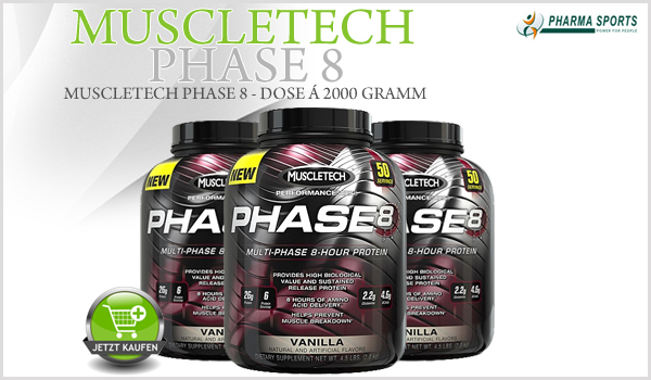Neues Protein im Sortiment bei Pharmasports: MuscleTech Phase 8