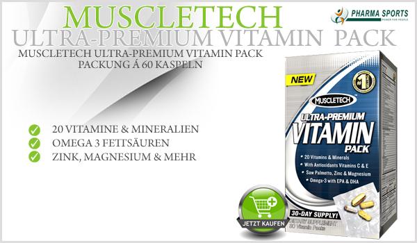 MuscleTech Ultra Premium Vitamin Pack neu im Sortiment bei Pharmasports