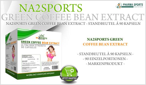 NEU bei Pharmasports: Na2Sports Green Coffee Bean Extract im 90 Kapsel Standbeutel!