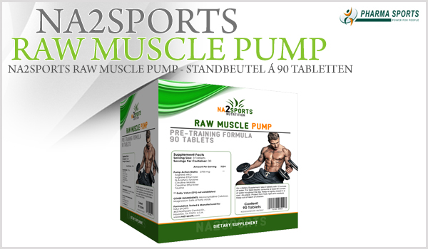 Na2Sports Raw Muscle Pump - Packung á 90 Tabletten
