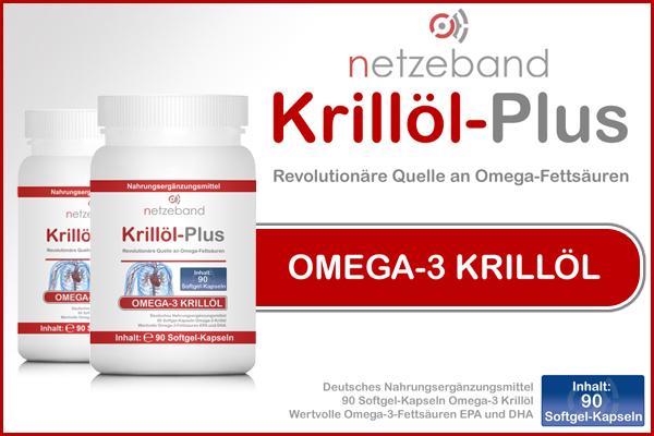 Netzeband Krillöl-Plus - Dose á 90 Kapseln bei Pharmasports