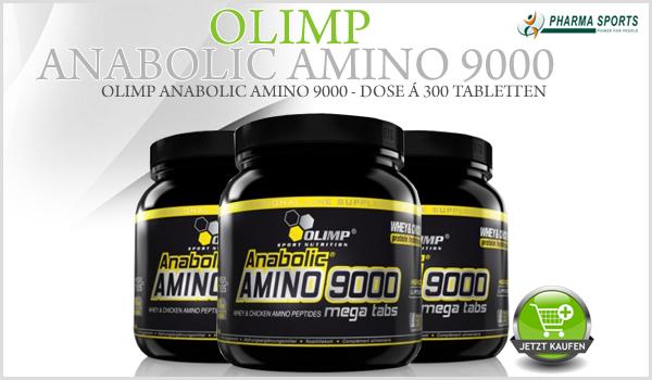 Olimp Anabolic Amino 9000 ab jetzt auch bei Pharmasports