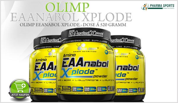 Olimp EAAnabol Xplode bei Pharmasports in der Aminosäure-Auswahl