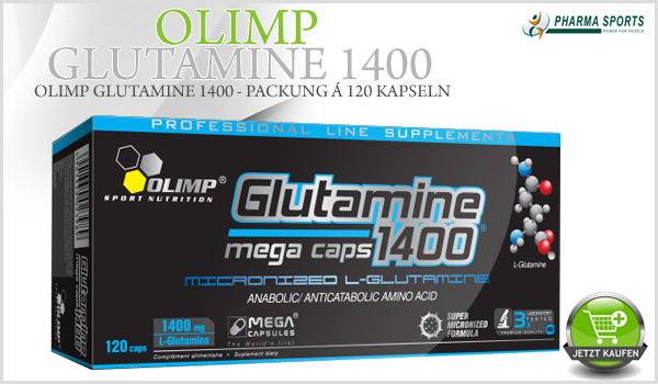 Olimp Glutamine 1400 in XXL-Kapseln