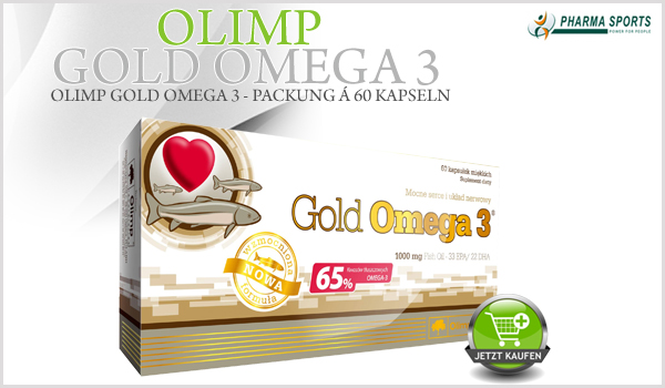 Olimp Gold Omega 3 - Packung á 60 Kapseln