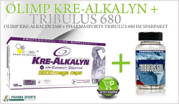Olimp Kre-Alkalyn 2500 + Tribulus 680 im Sortiment