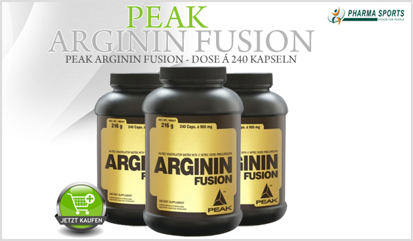 Neu bei Pharmasports im Sortiment - Peak Arginin Fusion