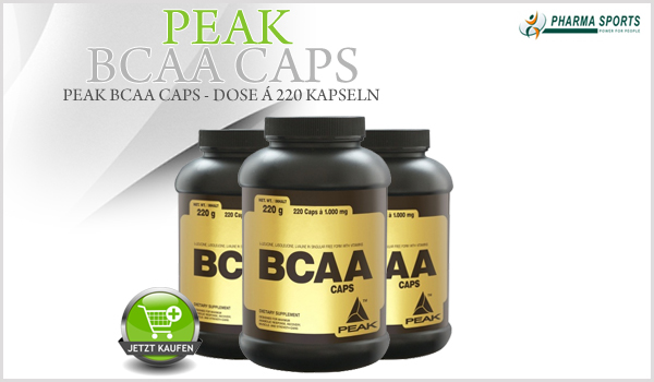Peak BCAA Caps jetzt auch bei Pharmasports
