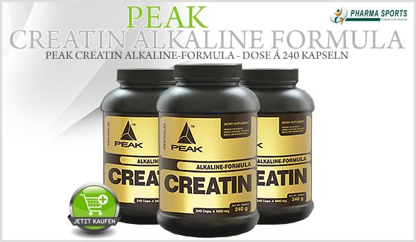 Peak Creatin Alkalyn - ein Creatin der besonderen Art bei Pharmasports