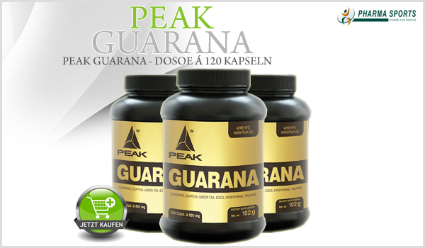 Peak Guarana Kapseln ab sofort auch bei Pharmasports
