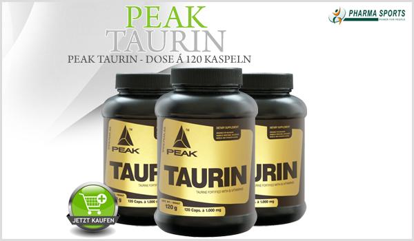 Peak Taurin neu im Aminosäuren-Sortiment bei Pharmasports