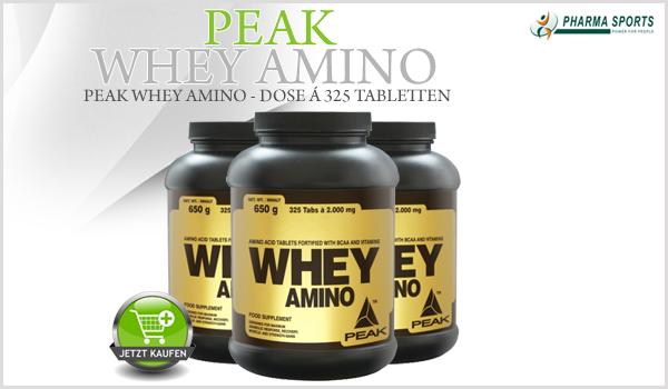 Peak Whey Amino Tabletten bei Pharmasports