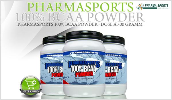Pharmasports 100% BCAA Powder - Dose á 500 Gramm