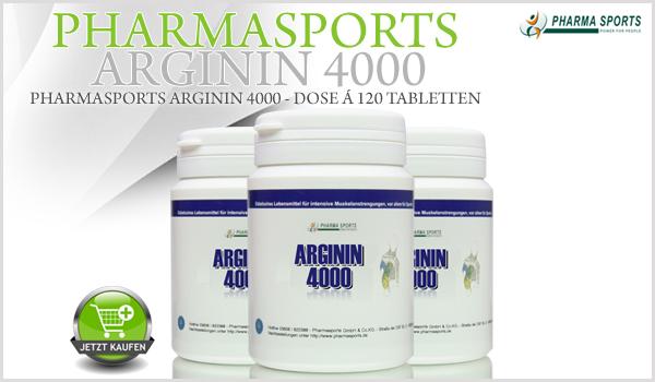 Pharmasports Arginin 4000 - NEU bei Pharmasports in der Aminosäuren-Auswahl