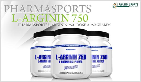 Pharmasports L-Arginin 750 - reines L-Arginin Hydrochlorid