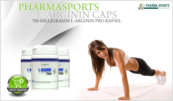 Pharmasports L-Arginin Caps - 700mg L-Arginin pro Kapsel