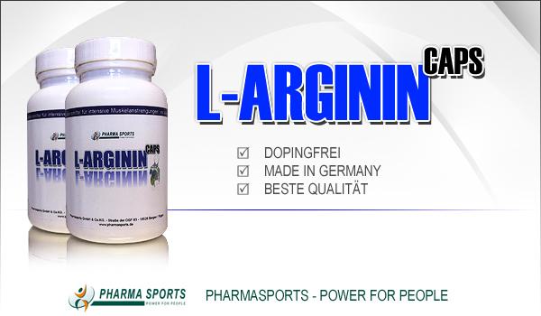 Pharmasports L-Arginin für mehr Kraft und Ausdauer