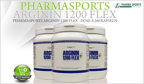 Ab sofort bei Pharmasports - Pharmasports Arginin 1200 Flex!