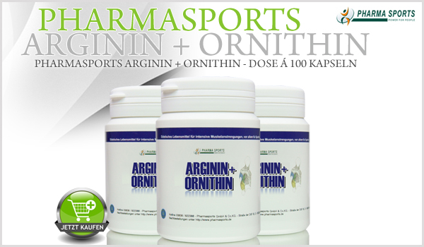 Pharmasports Arginin + Ornithin ab sofort erhältlich!