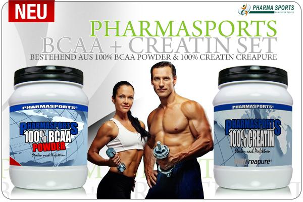 Sparen ist angesagt - mit dem Pharmasports BCAA + Creatin Set!